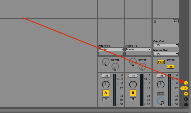 Ableton Live IO option
